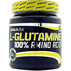 Глютамин, 100% L-Glutamine, Biotech, 500 грамм