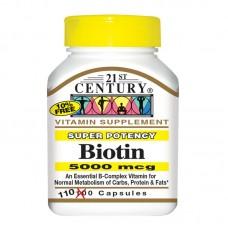 Biotin 5000 мкг (21st Century)