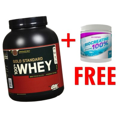 Подарочный набор 100% Whey Gold Standard + Biocreatine 100%