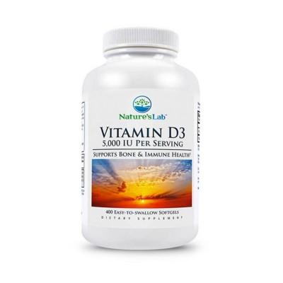 Vitamin D3 5000 IU 400 капсул (Natures Lab)