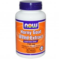Horny Goat Weed Extract (Now), 90 таблеток, 90 порций