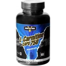 L-Carnitine 750 (Maxler) - 100 капсул, 100 порций