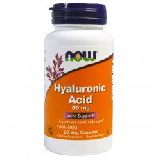 Hyaluronic Acid (Now), 60 капсул, 50 мг