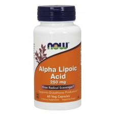 Alpha Lipoic Acid (Now), 250 мг, 60 капсул