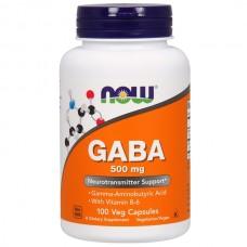 GABA (ГАМК)  500 мг (Now), 100 капсул