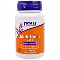 Melatonin 3 мг (Now) , 60 таблеток