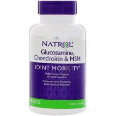 Glucosamine Chondroitin MSM (Natrol), 90 таблеток