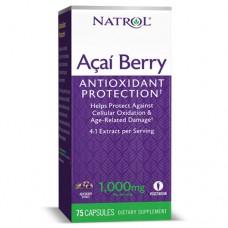 Acai Berry (Natrol),1000 мг, 75 вегкапс., 75 капсул