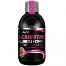 Л-карнитин, L-Carnitine 100000 Liquid, Biotech, 500 мл
