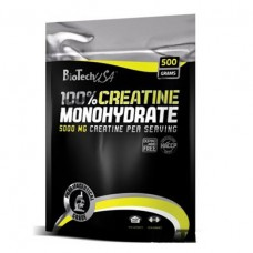 100% креатин, 100% creatine monohydrate, Biotech, 500 грамм