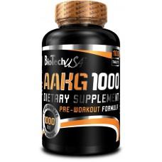 Аргинин, AAKG 1000, Biotech, 100 таб, 30 порций