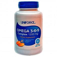 Omega 3-6-9 Complex 1200 мг (Uniforce) , 90 капсул, 45 порций