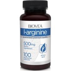 L-Arginine 500 мг (Biovea), 100 капсул