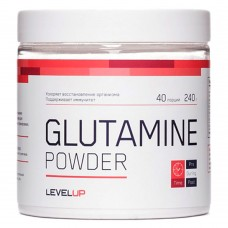 Glutamine Powder (Level Up), 240 грамм, 40 порций