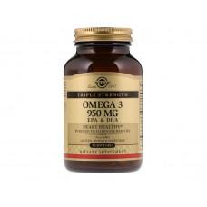 Omega-3 EPA and DHA Triple Strength (Solgar), 950 мг, 100 капсул