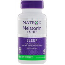 Advanced Sleep Melatonin + 5-HTP (Natrol) , 60 таблеток, 60 порций