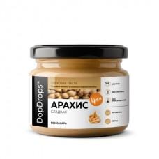 Арахисовая паста, сладкая, без сахара (DopDrops) 250 грамм