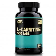 L-Carnitine 500 Tabs (Optimum Nutrition), 60 таблеток