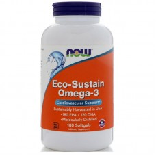 Eco-Sustain Omega-3 (Now), 180 капсул