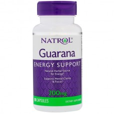 Guarana (Natrol) 90 капсул, 200 мг