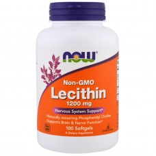 Lecithin (Now) 1200 мг, 100 капсул