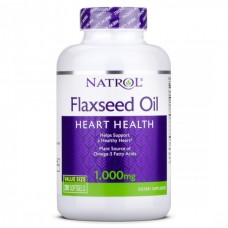 Flaxseed Oil (Natrol),  1000 мг, 200 капсул, 200 порций