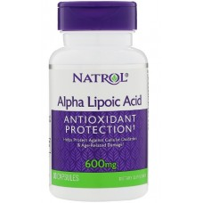 Alpha Lipoic Acid (Natrol), 600 мг, 45 капсул
